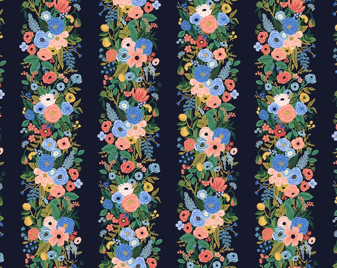 PRESALE: Garden Party Vines in Blue Rayon for Wildwood Collection by Rifle Paper Co.