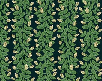 Climbing Vines in Black Fabric from Primavera by Rifle Paper Company