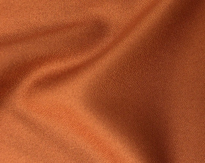 Crepe - Solid in Chestnut Fabric by Atelier Brunette