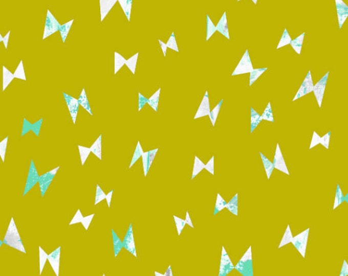 Flying Ribbon in Citron for the Once Upon a Time Collection for Cotton + Steel