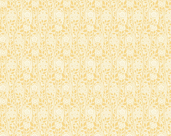 Merton Rose in Yellow from the Emporium Collection by Liberty Fabrics for Riley Blake Designs