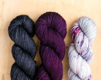 Fade Kit: 29 Bridges Merino DK - Black/Purple