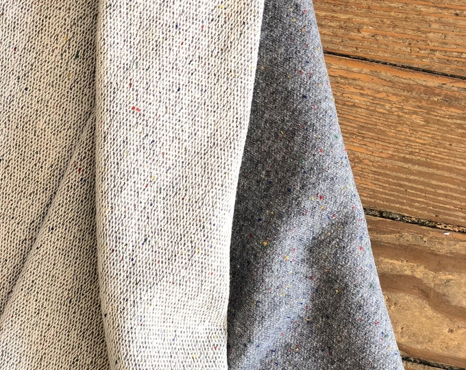 French Terry Gray Speckle in Gray by Robert Kaufman