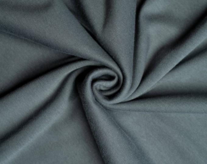Solid Interlock Organic Knit in Slate from Birch Fabrics