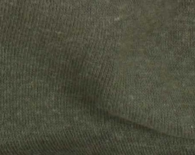 Eco Fleece Hemp Cotton Blend in Olive