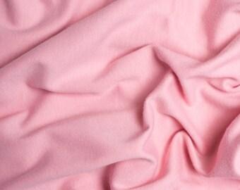 Solid Interlock Organic Knit in Petal from Birch Fabrics