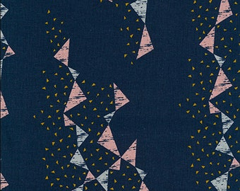 Dancing Triangles in NAVY from Kokka 2018 Tayutou Collection