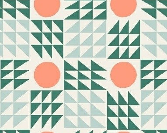 Mod Geo in Green from Penelope by Annabel Wrigley for Windham Fabrics