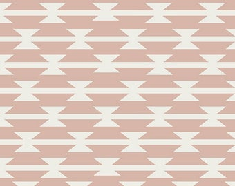 Tomahawk Stripe in Blush Knit- Arizona After by April Rhodes- Art Gallery Fabrics