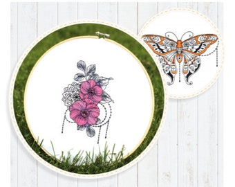 Boho Soul Collection Machine Embroidery Designs by Scissortail Stitches