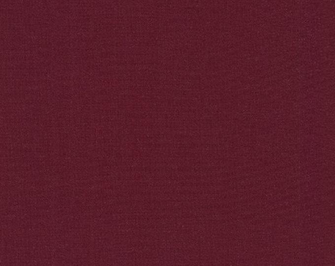 BURGUNDY Kona Cotton by Robert Kaufman