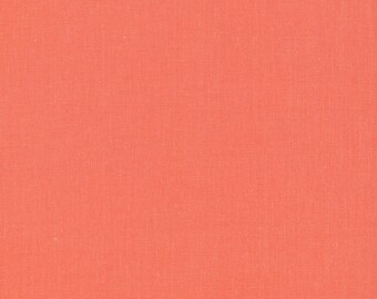 Cirrus Solids in Salmon - 100% Organic Cotton by Cloud 9