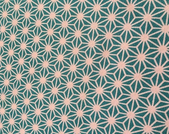 Chirimen, 100% Polyester in Aqua by Kokka