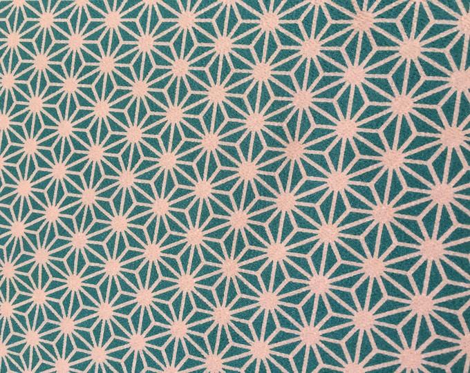 Chirimen, 100% Polyester in Aqua by Kokka