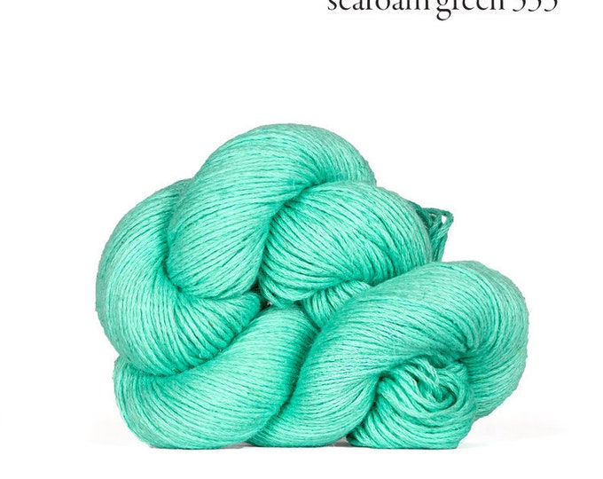 Mojave in Seafoam Green- Cotton + Linen Yarn - by Kelbourne Woolens