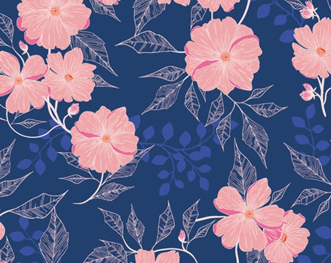 Midnight Garden from the Flowerette Collection by Art Gallery Fabrics