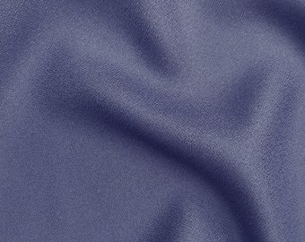 Crepe - Solid in Cobalt Fabric by Atelier Brunette