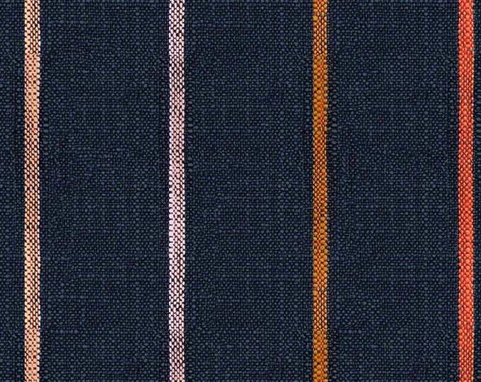Chore Coat Stripe in Navy from the Warp & Weft Heirloom Wovens Collection by Alexia Marcelle Abegg for Ruby Star Society