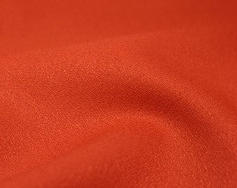 Crepe - Solid in Tangerine Fabric by Atelier Brunette