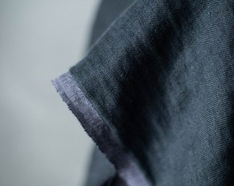 Woolsey Linen and Wool Double Gauze in Scuttle Black by Merchant & Mills