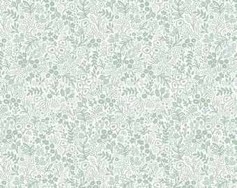 Tapestry Lace in Sage from the Rifle Paper Co. Basics Collection by Cotton and Steel