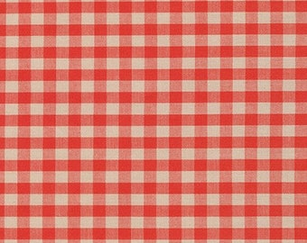 Crawford Gingham in Terracotta by Robert Kaufman