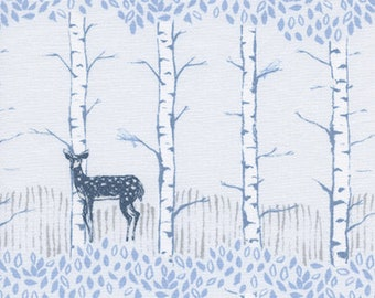 Fawn Forest in white from Frost by Sarah Watts for Cotton + Steel