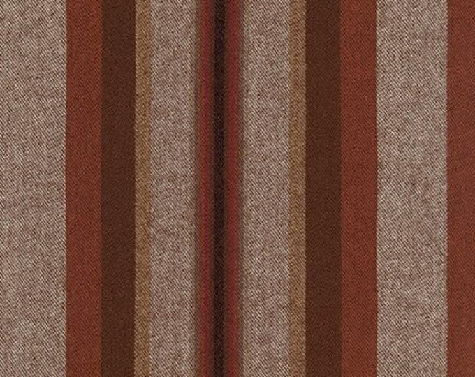 Taos Stripe Flannel in Mocha from Robert Kaufman