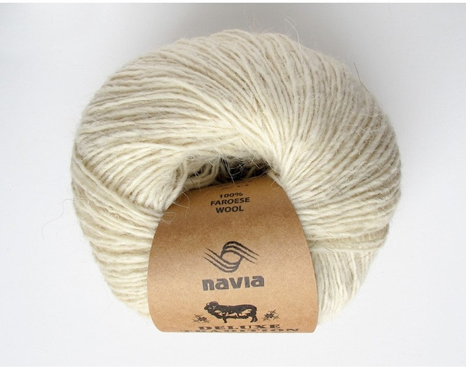 Deluxe Tradition - 100% Faroese Wool in WHITE - by Navia