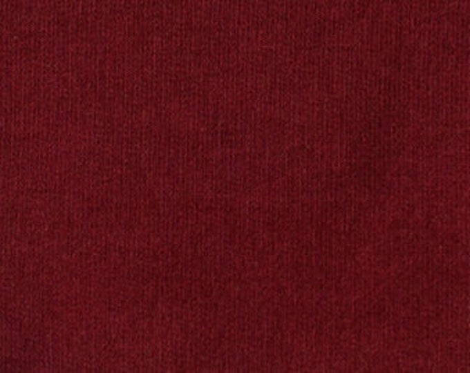 Soy/Org Cotton/Spandex French Terry in Wine by Pickering