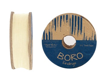 "Boro Trim Twill Tape 1.5"" - by the Yard - 5 color options"