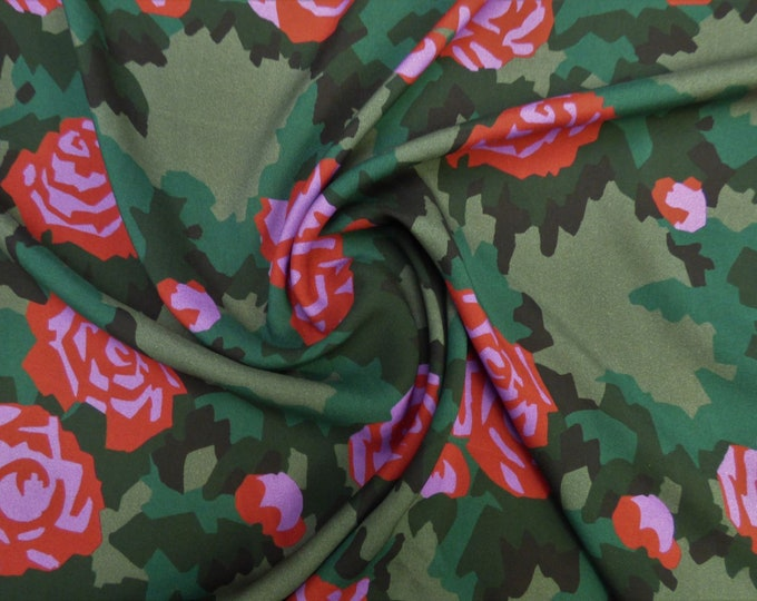 Combat Blooms in Cotton Marlie-Care Lawn