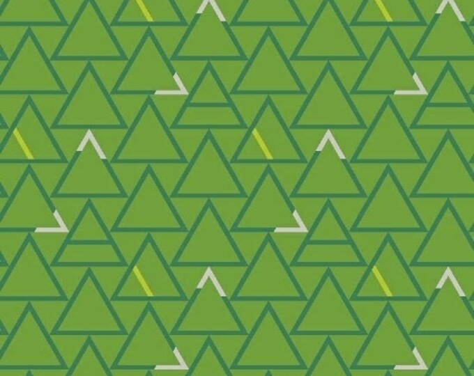 Triangles in Shamrock from Good Vibes Only by Shayla Wolf for Windham Fabrics