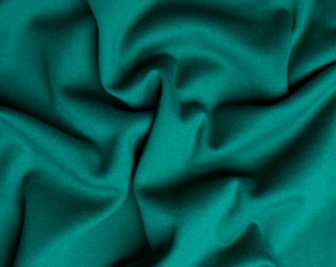 Solid Interlock Organic Knit in Forest from Birch Fabrics