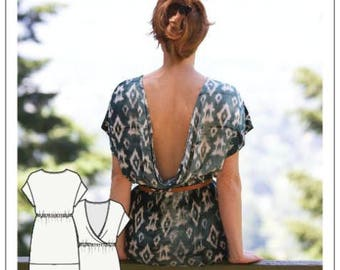 The Bridgetown Backless Dress & Tunic Pattern by Sew House Seven