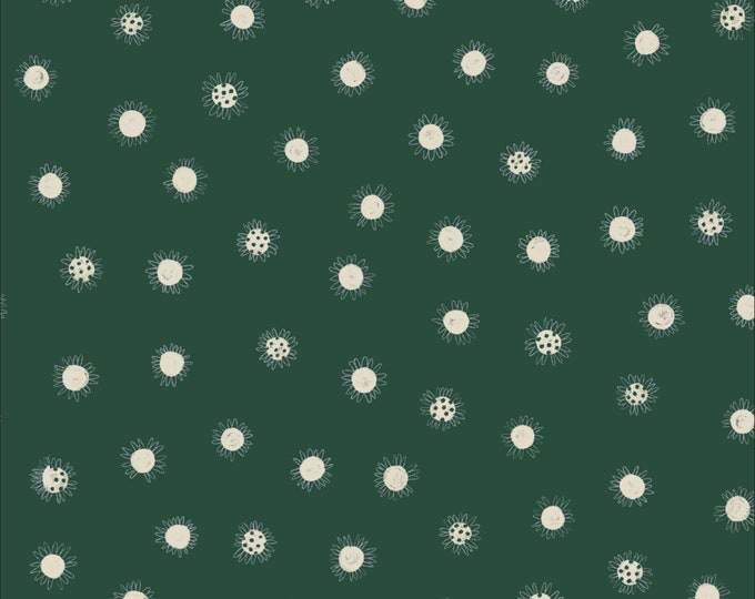 Daisy Dots 100% Organic Cotton from the Bloom Together Collection by Meenal Patel  for Cloud 9 - 1/2 YARD