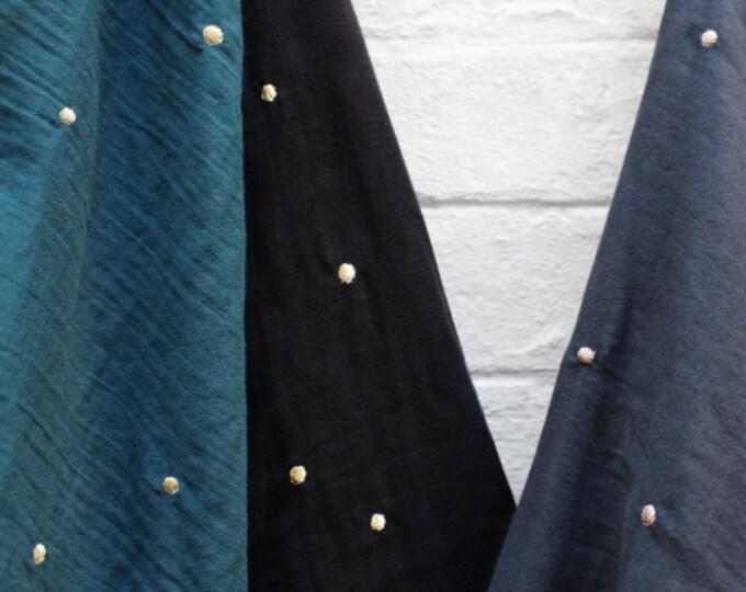 PRE SALE: Cotton Double Gauze - Stardust in Forest Fabric  by Atelier Brunette