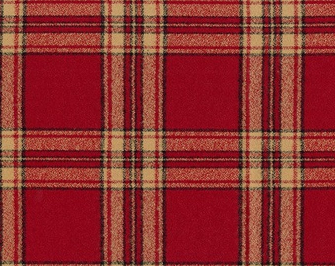 Mammoth Flannel in Red by Robert Kaufman
