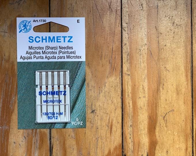 Schmetz - Microtex (Sharp) Needles 80/12 - Machine Needle