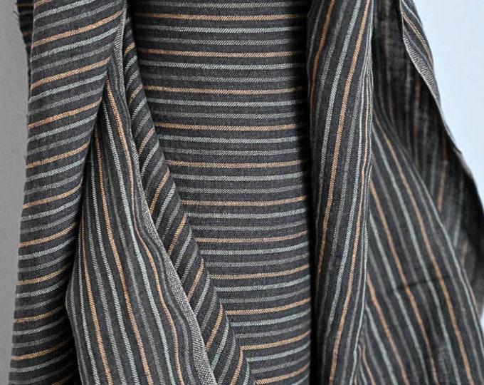 Miner's Stripe EU Laundered Linen by Merchant & Mills