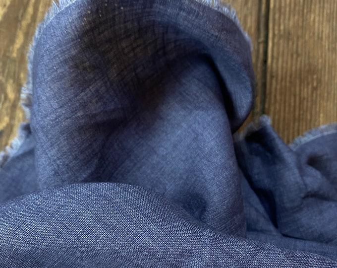 Deep Blue 100% Italian Linen