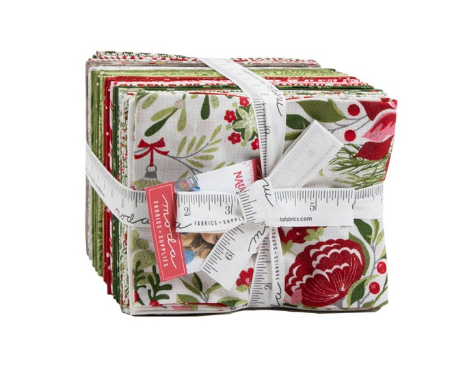 Naughty or Nice Fat Quarter Bundle from Moda Fabrics