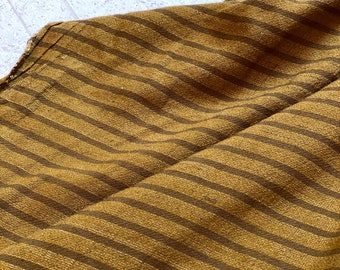 Lightweight Woven Cotton Strip in Brown
