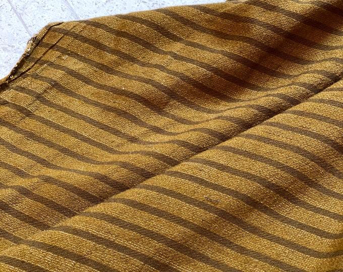 Lightweight Woven Cotton Strip in Brown
