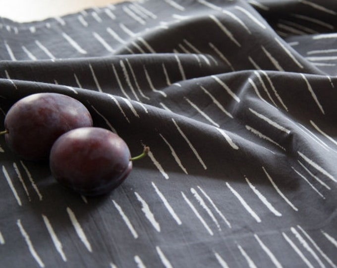Chalk in Charcoal Fabric by Atelier Brunette