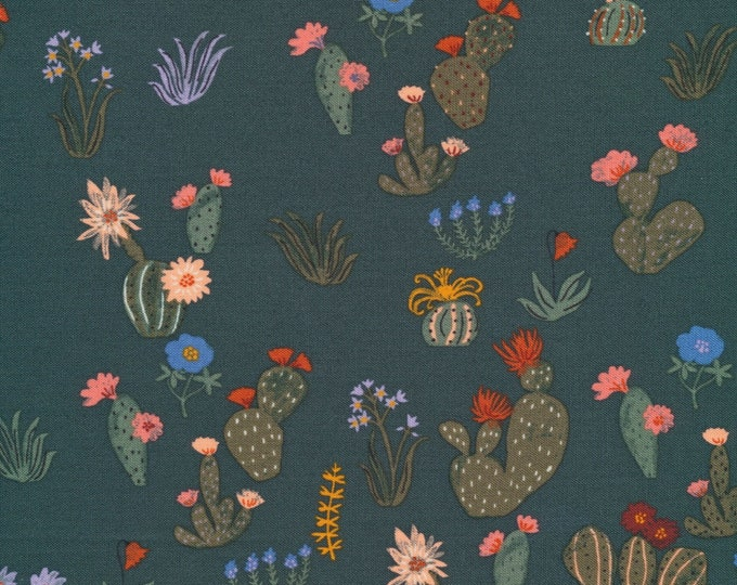 Prickly Florals in 100% Organic Cotton from the Arid Wilderness for Cloud9 Fabrics