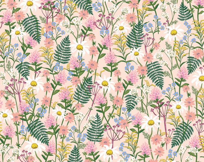 Wildflowers in Pink for Wildwood Collection by Rifle Paper Co.