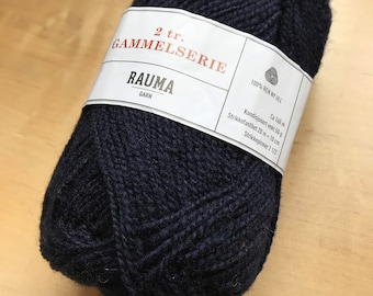 2 Ply Gammelserie in Navy Blue by Rauma