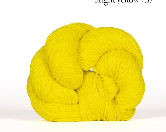 Mojave in Bright Yellow - Cotton + Linen Yarn - by Kelbourne Woolens