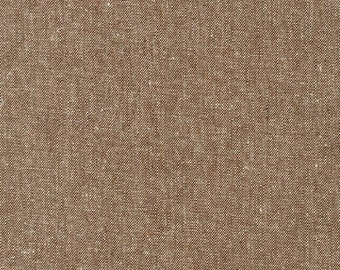 Robert Kaufman Yarn Dyed Essex Linen -Nutmeg- Cotton Fabric